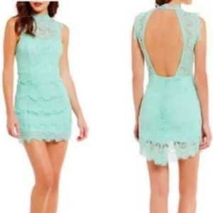 Free People | Daydream Mint Green Lace Dress Large